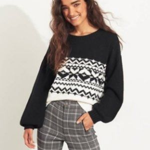 NWT Hollister Fair Isle Cozy Sweater